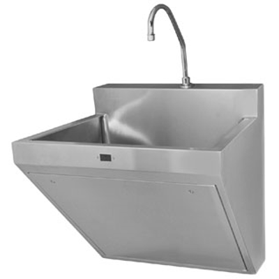 Image for ESS 2100 Scrub Sink - Single Station Stainless Steel Scrub Sink with Sensor-Operated Faucet
