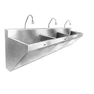 Image for ESS 2300 Scrub Sink - Triple Station Stainless Steel Scrub Sink with Sensor-Operated Faucet