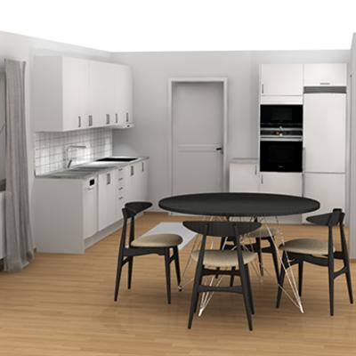 изображение для L-Shaped Kitchen two walls
