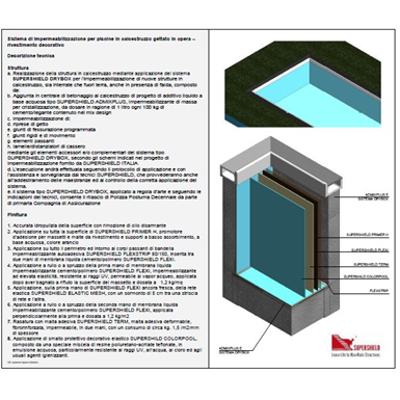 Image for Waterproofing system for new swimming pools in concrete – Painted finish