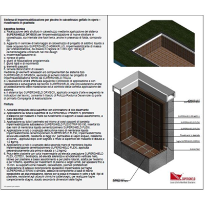 Image for Waterproofing system for new swimming pools in concrete – Tile finish
