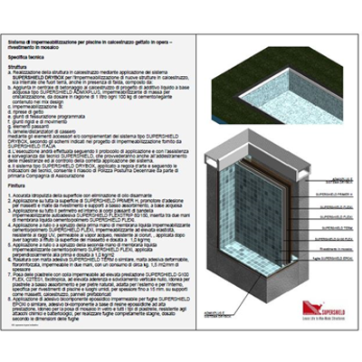 Image for Waterproofing system for new swimming pools in concrete – Mosaic finish