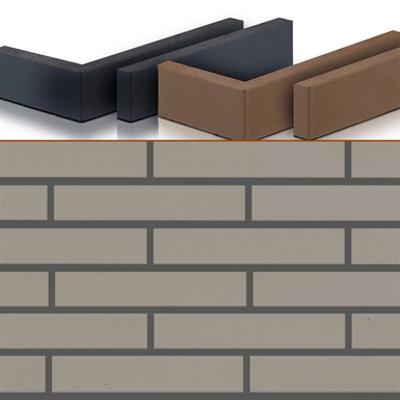 Klinker Brick Slip Smooth Grey Otero图像