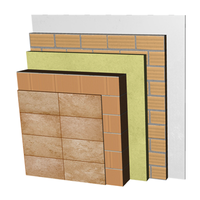 Image for FC08-B2-b Double skin clay block façade. RD+BC19+AT+LH7+ENL