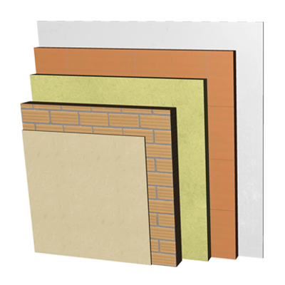 Image for FC13-H-bgf Double skin non facing clay brick façade. RC+LH11,5+C+AT+LHGF7+ENL