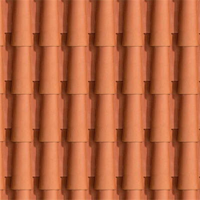 obraz dla Sloping roof with external cladding of clay tile. T