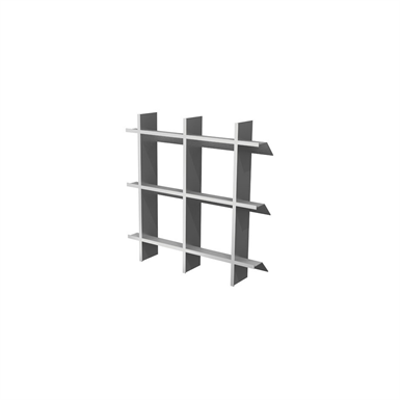 Image for CS Geometric Aluminum Architectural Grille - Modular Bold Line Pattern