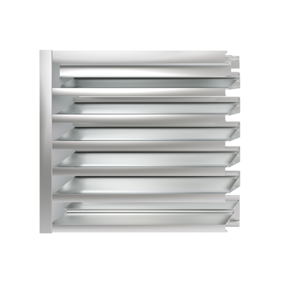 """Image for  BL-4089 4"""" blast resistant, high performance drainable louver"""