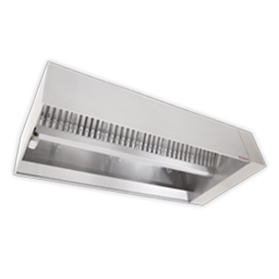 Image for Single Island V-Bank Exhaust Only Hood with Perforated Supply Plenum, NDI Series