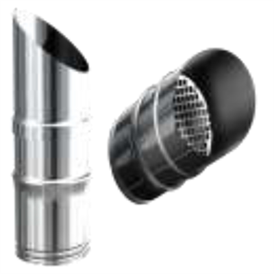 Image for OLIFLEX PPs Single Wall - STAINLESS STEEL TERMINAL WITH PROTECTION