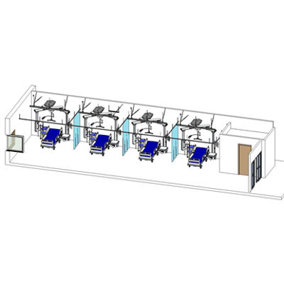 Image for ICU Patient Ward Room with ceiling lift