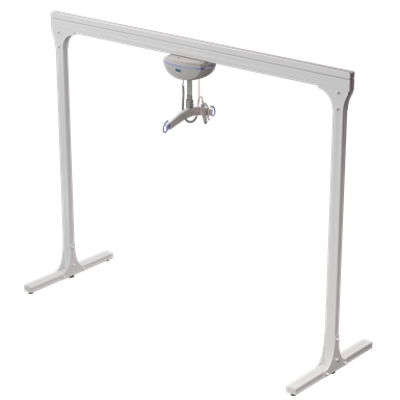 Image for Semi-Permanent 2 Post track system with ceiling lift