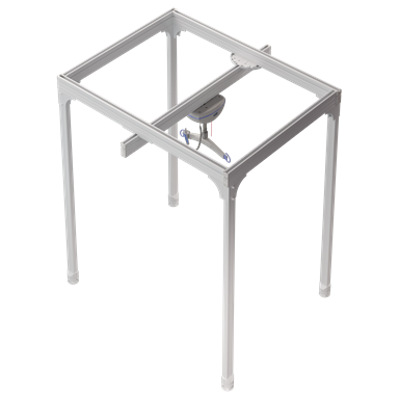 Image for Semi-Permanent 4 Post track system with ceiling lift