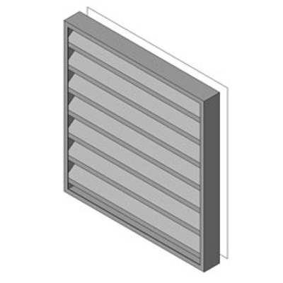 Image for Reliable-Stationary Heavyline Louver-4375BW125