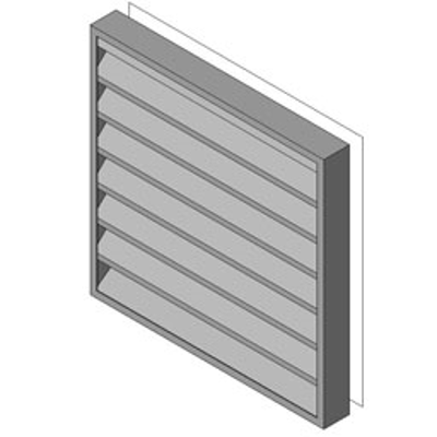 Image for Reliable-Stationary Heavyline Louver-445RD5S