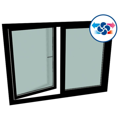Image for GEALAN CAIRE® smart (flush-mounted) - S9000 Double-vent window
