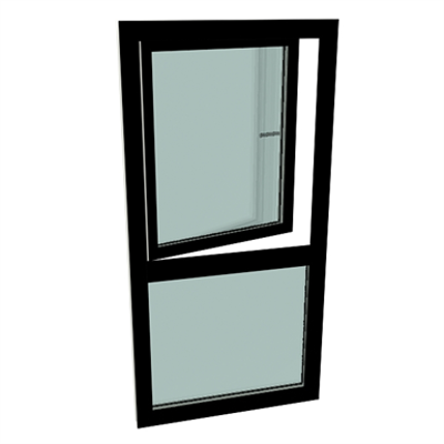 Image for S9000 Single-leaf turn tilt window with fixed sublight