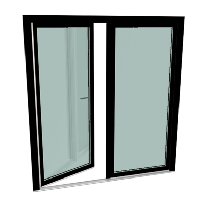 Image for S9000 Double-vent door with threshold