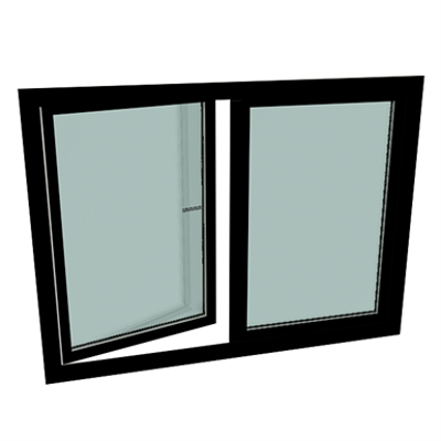 Image for S9000 Double-vent window