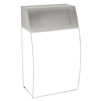 Image for STRATOS Folding self-closing lid for waste bin STRX608