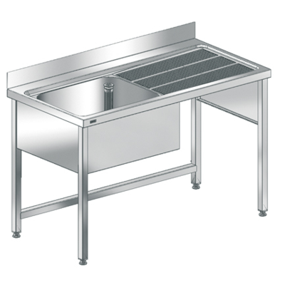 Image for MAXIMA Commercial sink with frame MAXL140-70FDW
