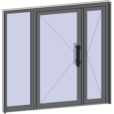 Image for Grand Trafic Doors - Double inward opening with left fixed
