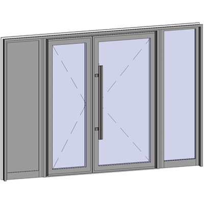 Image for Grand Trafic Doors - Anti Finger Pinch version - Double outward opening with 2 fixed
