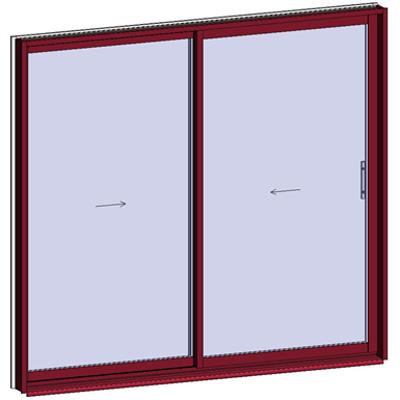 Image for Sliding window 2 rails 2 leaves