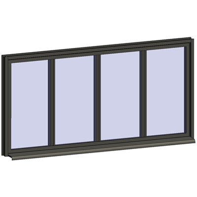 Image for Fixed Window with 4 Horizontal zones