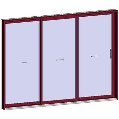 Image for Sliding window 2 rails 3 leaves