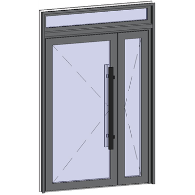 Image for Grand Trafic Doors - Double outward opening with transom