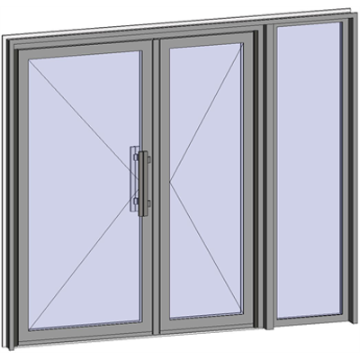 Image for Grand Trafic Doors - Anti Finger Pinch version - Double inward opening with right fixed