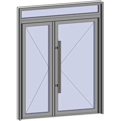 Image for Grand Trafic Doors - Anti Finger Pinch version - Double inward opening with transom