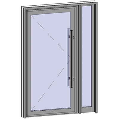 Image for Grand Trafic Doors - Anti Finger Pinch version - Single outward opening with right fixed