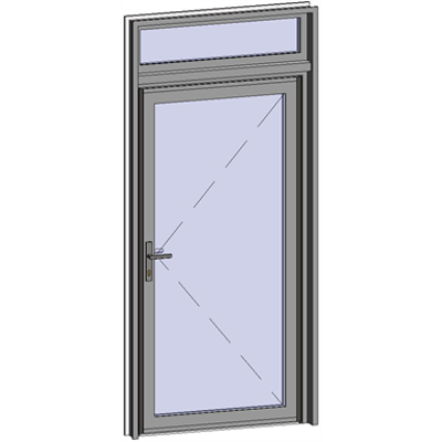 Image for Grand Trafic Doors - Anti Finger Pinch version - Single outward opening with transom