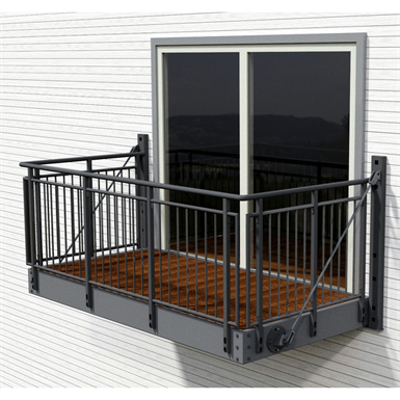 Image for Balcony with Gaula steel railing