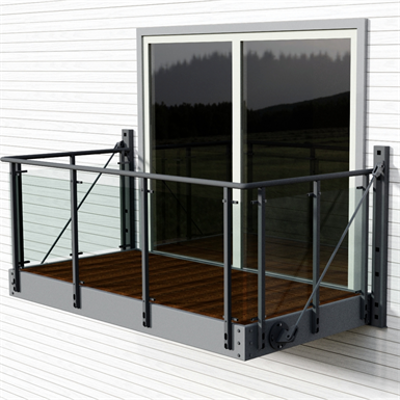 Image for Balcony with Vinstra glass railing