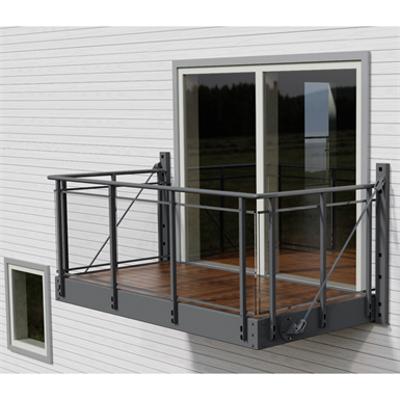 Image for Balcony with Glitra glass railing