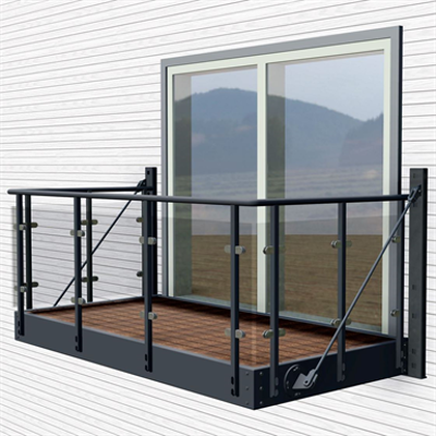 Image for Balcony with Orkla glass railing