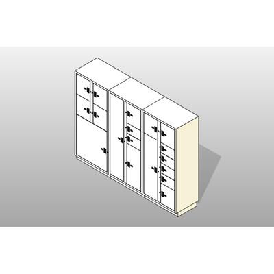 Image for 3 Columns-18 Total Openings Steel Evidence Locker