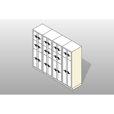 Image for 4 Columns-22 Total Openings Steel Evidence Locker