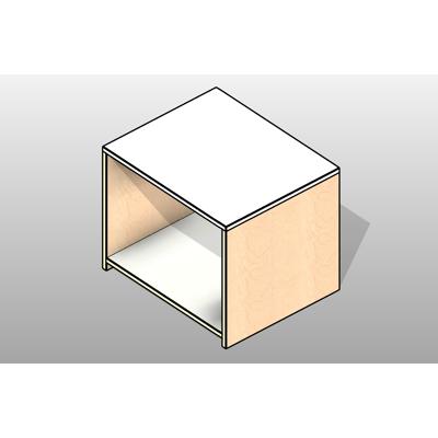 Image for Console with Bottom Shelf Executive Laminate Casework