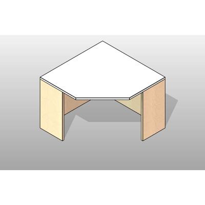 Image for Corner Console Executive Laminate Casework