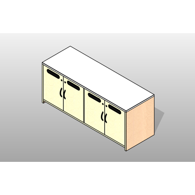 Image for Credenza - Mail Slots Executive Laminate Casework