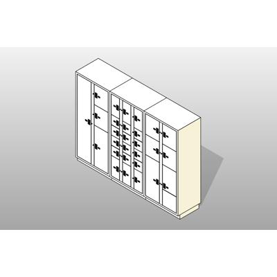 Image for 3 Columns-28 Total Openings Steel Evidence Locker