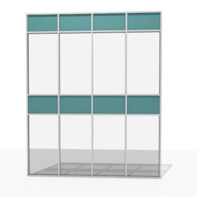 Image for Aluminum facade grid - 76% to 100 % transparent