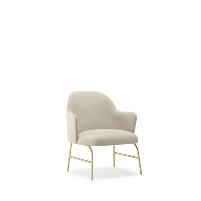 Image for Aleta Lounge Chair - Four metal legs base with armrest