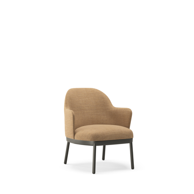 Image for Aleta Lounge Chair - Four wooden legs base with armrest