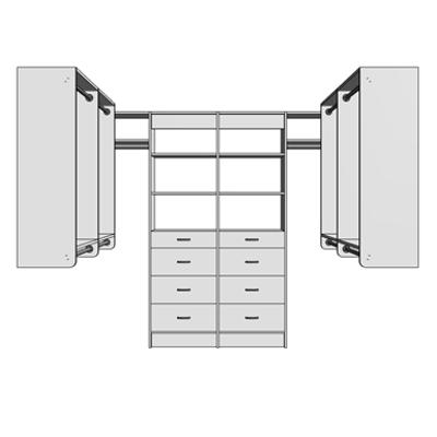 Image for MasterSuite Closet Custom Series Walk-In Standard 8x8 Drawer Tower