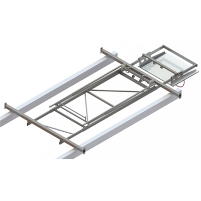 Image for Roof Mounted Matchplay Basketball Goal 7,6-8,1m, Timber backboard 1200x900 mm Backward hoisted